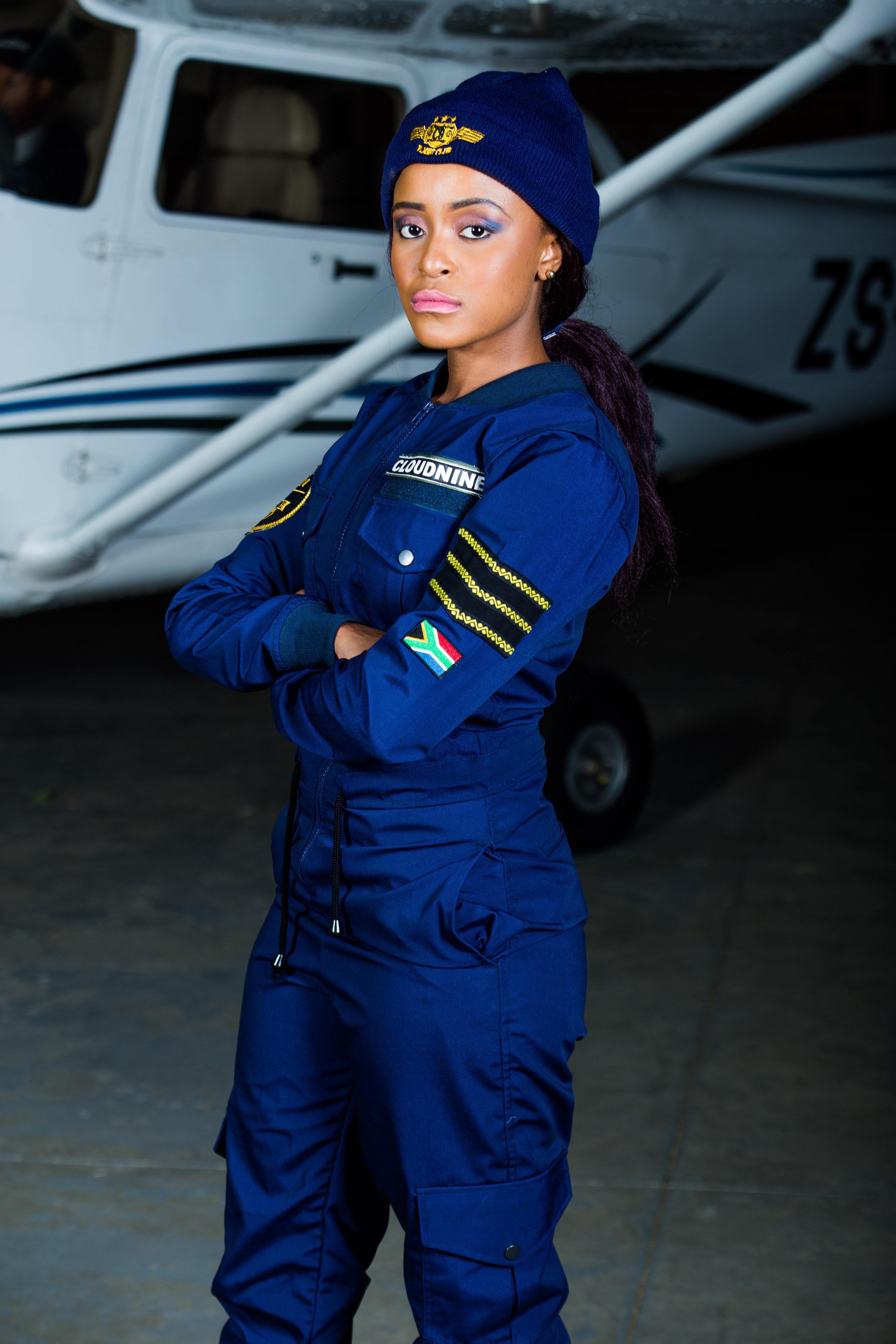a8f08b8be4e9 ZANDI wearing the Navy Long Sleeve Ladies  FLIGHT SUIT
